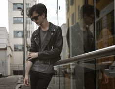 The black-haired boy: REFLECTIVE #menswear #fashion #black #outfit #blogger #mensfashion #leather #jacket