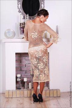 Аукцион на пляжное платье крючком!!! Старт 1000 руб - Ярмарка Мастеров - ручная работа, handmade