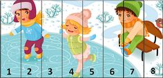 .. Seasons Activities, Winter Activities For Kids, Christmas Puzzle, Kids Christmas, Preschool Puzzles, Number Puzzles, Kids Zone, 4 Kids, Children