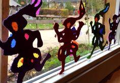 Pieten op het raam
