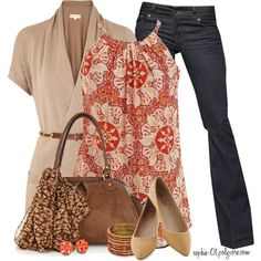 I like that this is a cute fall outfit that isn't with heels or boots. Sometimes a good pair of flats are nice too. :)