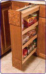KitchenMate™ Kitchen Base Cabinet Filler Pantry by Omega National | KitchenSource.com #kitchensource #pinterest #followerfind