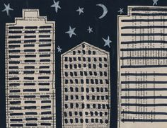 Art Projects for Kids: Cityscape from Book Pages