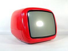Vintage Portable TV Set / From Yugoslavia / Iskra Minirama / Vintage Space, Vintage Tv, Innovation, Portable Tv, Television Set, Tv Sets, Box Tv, Space Age, Retro Futurism