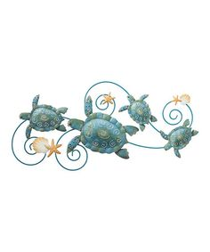 Loving this Sea Turtle Wall Art on #zulily! #zulilyfinds