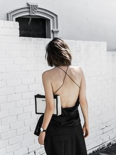 black backless dress | outfit inspiration
