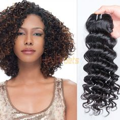 1 pcs Virgin Indian Hair Extensions Deep Wave Natural Black Only Indian Hairstyles, Weave Hairstyles, Indian Hair Weave, Virgin Indian Hair, 100 Human Hair Extensions, Hair Art, Waves, Nail, Deep
