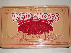 Ferrara Pan Red Hots Candy w/ Colectible Tin Retro Cinnamon Nostalgic Hot Ferrara Pan, Red Hots Candy, Cinnamon, Candyland, Tin, Retro, Sugar, Memories, History