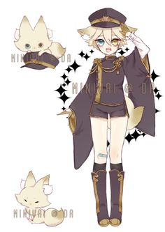 Flaumpauf set price 07 (youkai series CLOSED by minivai on DeviantArt Character And Setting, Cute Characters, Touken Ranbu, Anime Outfits, Character Design Inspiration, Anime Style, The Magicians, Cute Pictures, Chibi