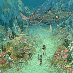 Jackie here, with another art feature for you. This week, I decided to highlight some of, in my opinion, the most imaginative artists around. Art And Illustration, Fantasy Kunst, Fantasy Art, Cassandra Calin, Ligne Claire, Art Graphique, Fantasy Landscape, Claude Monet, Psychedelic Art