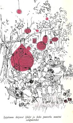 Maija Karman kuvitusta Marjatta Kurenniemen kirjaan Onneli ja Anneli