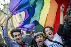 Legalization of same-sex marriage in France met with celebrations, protests (Photo: Etienne Laurent / Xinhua via Zuma Press)