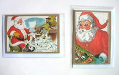 Vintage Christmas book illustrations made into cards.....LOVE!