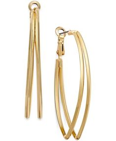 INC International Concepts Gold-Tone Pointed Double Hoop Earrings, Only at Macy's