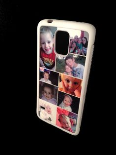 Personalised Samsung Galaxy S5 Phone Case Rubber Frames. Either Single image or Photo collage