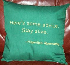 Hunger Games Inspired, Here's Some Advice, Throw Pillow, Summer Sale