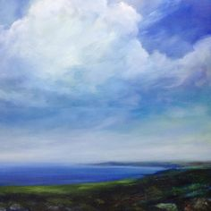 www.sjbart.com #painting  #Pembrokeshire #sky #clouds #landscape #art #artist #sea #seascape #wales #coast #love #loveart#Artoftheday #blue #sarahjanebrown