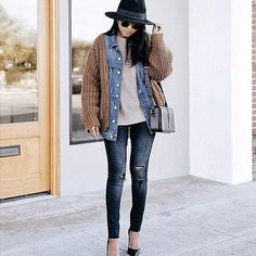 How to Work a Denim Jacket For Winter Weather