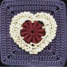 Lacy Bullion Heart Square: free pattern