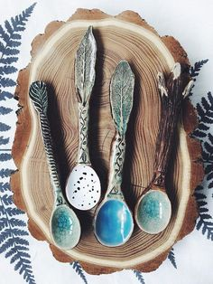 Ceramic Spoon Forest handmade pottery rustic