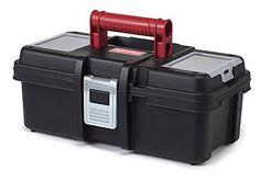 Craftsman 13 Inch Tool Box with Tray - Black/Red (Original Version) Tool Organization, Tool Storage, Storage Racks, Garage Storage, Plastic Tool Box, Home Addition Plans, Pre Black Friday Sales, Lid Organizer, Storage Compartments