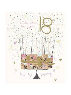 BuyWoodmansterne 18th Birthday Card Online At Johnlewis