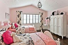 pink inspired double bed bedroom for teenage girls - Decoist
