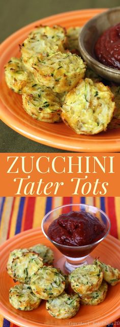 Zucchini Tater Tots - a healthy, homemade side dish that's a kid-friendly recipe with some extra veggies! Gluten free. | cupcakesandkalechips.com