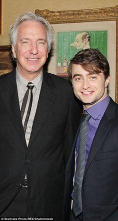 Alan Rickman with Daniel Radcliffe