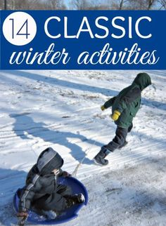 Simple fun is best! 14 awesome classic winter play ideas.