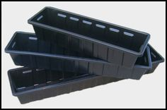 Long Rectangular Plastic Planters With Inserts Window Box Liners Flower