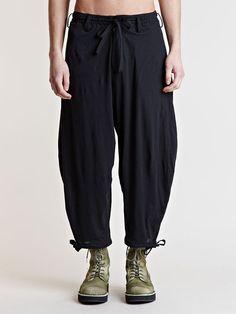 For summer! Yohji Yamamoto Men's Round Side Twill Pants