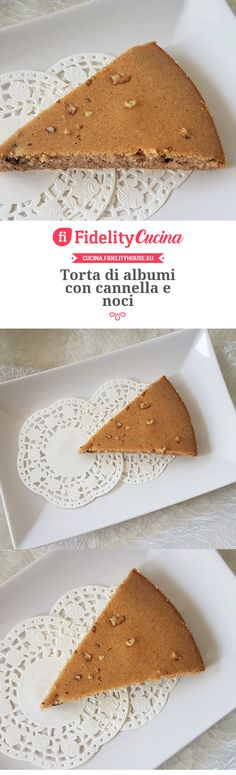 Torta di albumi con cannella e noci Easy Cooking, Cooking Recipes, Good Food, Food And Drink, Foods, Drinks, Ethnic Recipes, Sweet, Home