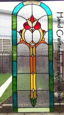 Victorian Archway Sidelight/Door Panel Static Window Cling