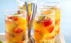 Verrine Fruit, Fruit Champagne, Cocktails, Drinks, Banquet, Food Art, Cantaloupe, Panna Cotta, Gluten