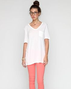 okay, maybe the color of the pants isn't so me, but... classic tee w/ pocket ++ t by alexander wang