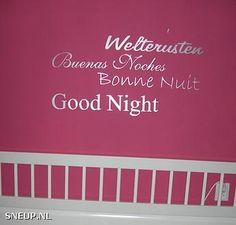 Sneup Welterusten Muurtekst Muurdeco Interieurdecoratie - #Sneup