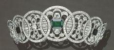 Emerald and Diamond tiara ca. 1910