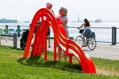 Modified Social Bench by Jeppe Hein;  New York