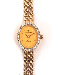 14 karat gold and oval Bernard Piot ladies' watch with diamonds. From €3000 for €1499. See more at - http://www.megawatchoutlet.com/women/bernard-piot.html