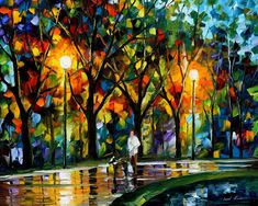 WALK WITH A FRIEND - PALETTE KNIFE Oil Painting On Canvas By Leonid Afremov http://afremov.com/WALK-WITH-A-FRIEND-PALETTE-KNIFE-Oil-Painting-On-Canvas-By-Leonid-Afremov-Size-30-X24.html?bid=1&partner=20921&utm_medium=/vpin&utm_campaign=v-ADD-YOUR&utm_source=s-vpin