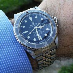 #rolex #submariner . @wristwatchpassion . . . #orologiepassioni #watches #watchfam #watchporn #wristshot #watchesofinstagram #dailywatch…