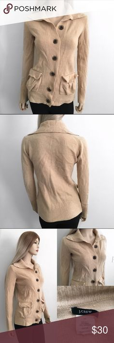 J Crew Cardigan Sweater 🍂 J Crew Cardigan Sweater 🍂 Size: XS Length: 28in Condition: Pre loved Condition This Cardigan Sweater by J.Crew has some peeling but overall it is a cute Cardigan that still has a lot of wear in it left. No holes, tears or stains. Wear this with some leather boots for a stunning fall/winter outfit 🍂  In Bin: I **All items from my closet come from a SMOKE FREE home**🙅🏽😊 J. Crew Sweaters Cardigans