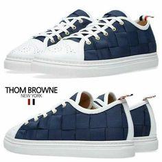 Thome Browne woven navy Sneakers  톰브라운 2016 신상 네이비우븐 스니커즈 슈즈 신발 운동화