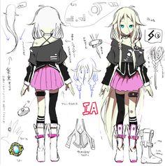 "animereferencesheets: "" Vocaloid IA """