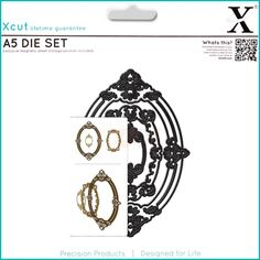 Xcut Decorative Die - Ornate Frames Oval