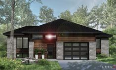 Our modern house plan is sold directly online and is already … - Home & DIY Dream House Exterior, Exterior House Colors, Small House Design, Modern House Design, Prairie Style Houses, Modern Farmhouse Exterior, Modern Bungalow Exterior, Contemporary House Plans, Custom Built Homes