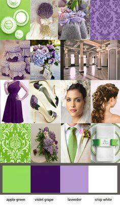Purple & Green? :  wedding colors green inspiration purple Inspirationcopy