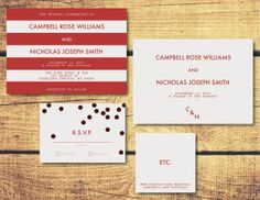 Printable Wedding Invitation Package L Confetti U0026 Stripes Collection On  Etsy, $20.00