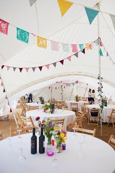 Image result for colourful wedding bunting